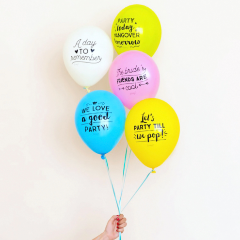 Ballons, for epic hen parties, Bird on the wire, 7,75 euros
