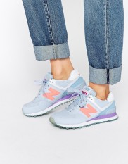 Baskets lilas 574, New Balance, 90 euros