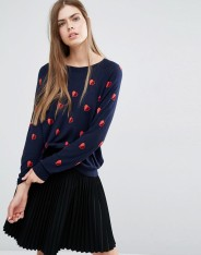 Pull en maille à motifs demi-cœur, PS by Paul Smith, 226 euros