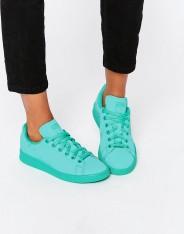 Baskets Stan Super Colour vert menthe, Adidas Originals, 85 euros
