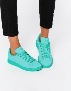 Baskets Stan Super Colour vert menthe, Adidas Originals, 85 euros