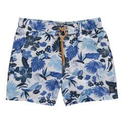 Short de bain imprimé fleurs bleues, Timberland, 31,50 euros