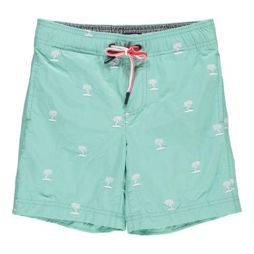 Short de bain palmiers lacey bleu turquoise, Tommy Hilfiger, 44 euros