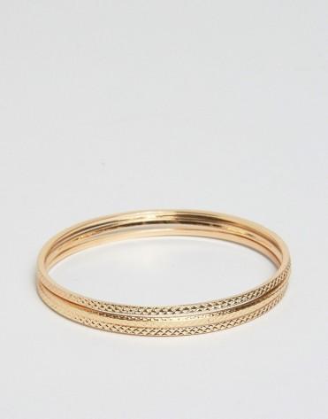 Lot de trois bracelets minimalistes, Asos, 8,50 euros