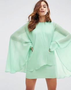 Robe courte façon cape en mousseline douce, Asos, 51 euros