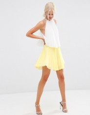 Robe courte color block à volants, Asos, 56 euros