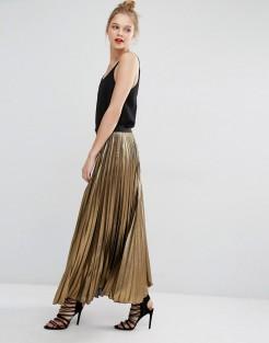 Jupe longue plissée Dallin, BCBG Max Azria, 395 euros