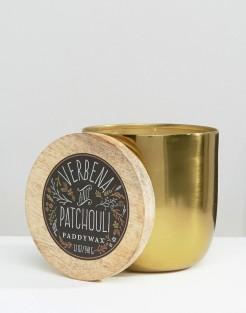 Bougie verveine et patchouli Foundry, Paddywax, 38 euros