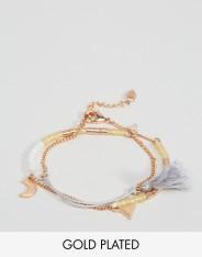 Bracelet de l'amitié à breloques, Pilgrim, 36 euros