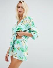 Ensemble pyjama imprimé Hawaïen, Asos, 35 euros