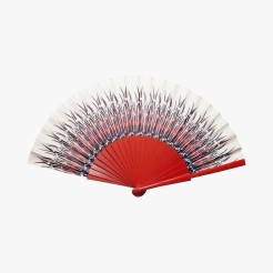Eventail aigrette rouge, Duvelleroy, 45 euros