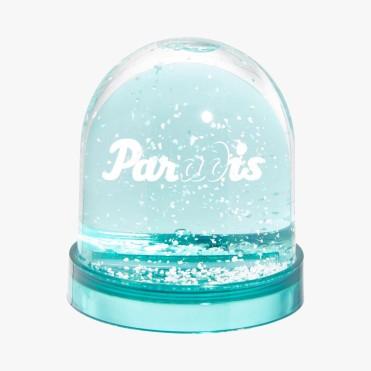 Boule à neige turquoise, Paradis, 12 euros