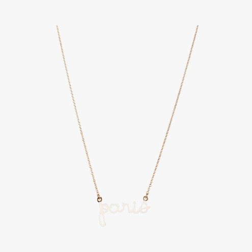 Collier chaine or Paris, Titlee, 55 euros
