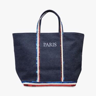 Cabas Paris à sequins tricolores, Vanessa Bruno, 170 euros