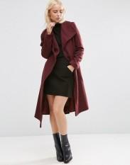 Manteau effet cascade coupe trapèze en laine mélangée, Asos, 120 euros