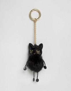 Porte-clés d'Halloween à pompon chat, Asos, 8 euros