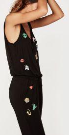 Combi-pantalon noire Eyeiz, Undiz, 25 euros