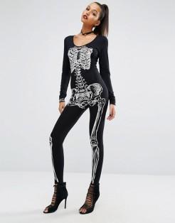 Combinaison à imprimé squelette, Missguided, 40 euros