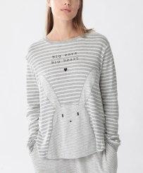 T-shirt à rayures grises lapin, Oysho, 23 euros