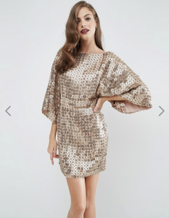 Robe Red Carpet kimono courte avec sequins ronds, Asos, 147 euros