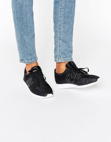 Baskets 420 en tulle noire, New Balance, 90 euros