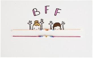 Carte Best Friends Forever bracelets x2, MATHILDE CABANAS, 12,50 euros