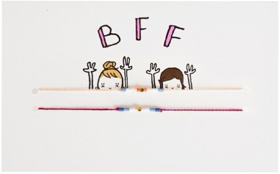 Carte Best Friends Forever bracelets x2, MATHILDE CABANAS, 12,50 euros