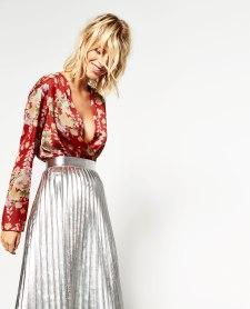 Body imprimé décolleté croisé, 29,95 euros, Zara