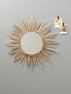 Miroir soleil rotin, Cyrillus, 47,92 euros