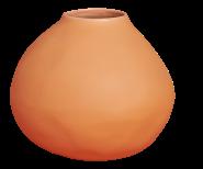 Vase en grès 14cm orange, Habitat, 15,33 euros