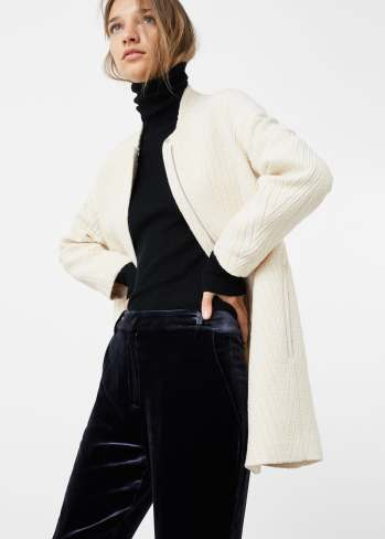 Manteau en laine et coton, Mango, 49,99 euros
