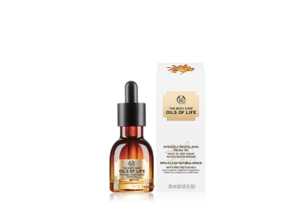 Huile De Soin Visage Revitalisante Intense Oils Of Life™, The Body Shop, 35 euros