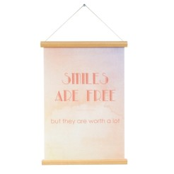 Affiche Canvas Smile are free, Present Time, Twicy, 10,43 euros