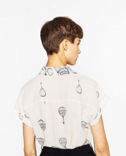 Blouse imprimée montgolfière, Zara, 19,99 euros