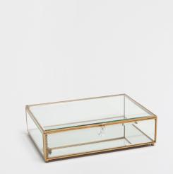 Boite en verre transparente, Zara Home, 39,99 euros