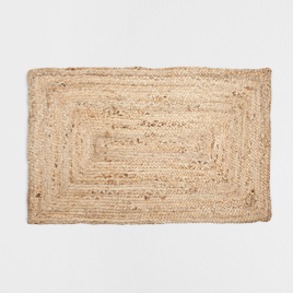 Paillasson jute cadre couleur naturelle, Zara home, 29,99 euros