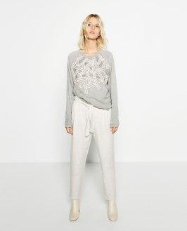 Pantalon de jogging en jacquard, Zara, 19,99 euros