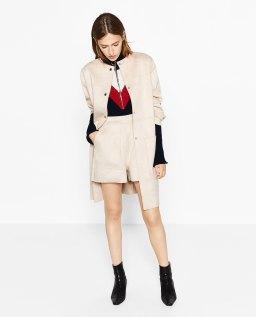 Short toucher suédine, Zara, 12,99 euros