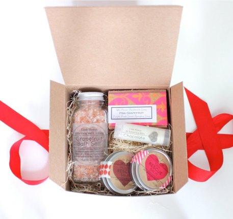 Coffret Saint Valentin pour Elle, LittleFlowerSoapCo, 26,83 euros