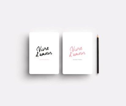 Carte Vivre d'Amour, MarionPapierMachine, 3,50 euros