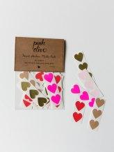 Pack de 60 stickers cœur, pinkoliveinc, 7,63 euros
