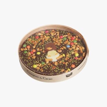 Chocolat noir 72% et décors de pâques en chocolat, 15,80 euros, Comptoir du Cacao