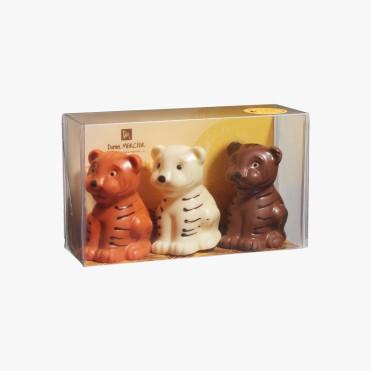 Réglette 3 lionceaux orange, lait, blanc, 19,50 euros, Daniel Mercier