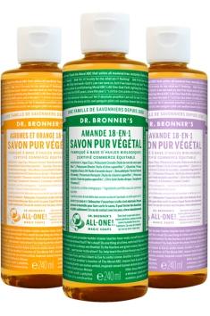 Savon liquide, Dr Bronner's, 11 euros