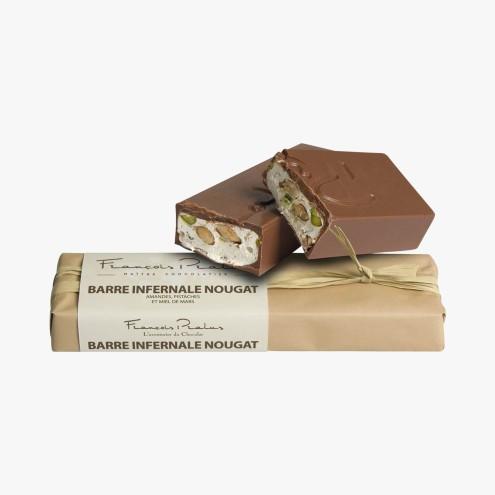 Barre infernale nougat - amandes, pistaches et miel de mars, 16,20 euros, Pralus