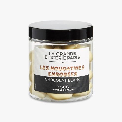 Nougatine enrobée de chocolat blanc, 11,50 euros, La Grande Epicerie de Paris