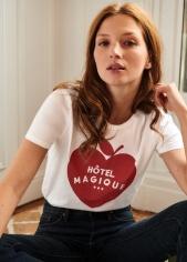 T-shirt Apple - Sézane x Hôtel Magique, 45 euros